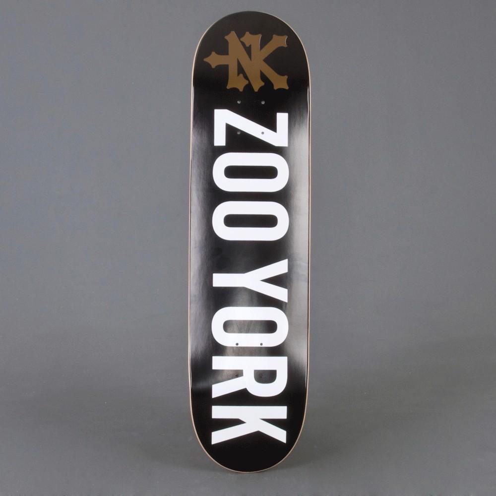 """Zoo York Logo Black 8.1"""" skateboard deck"""