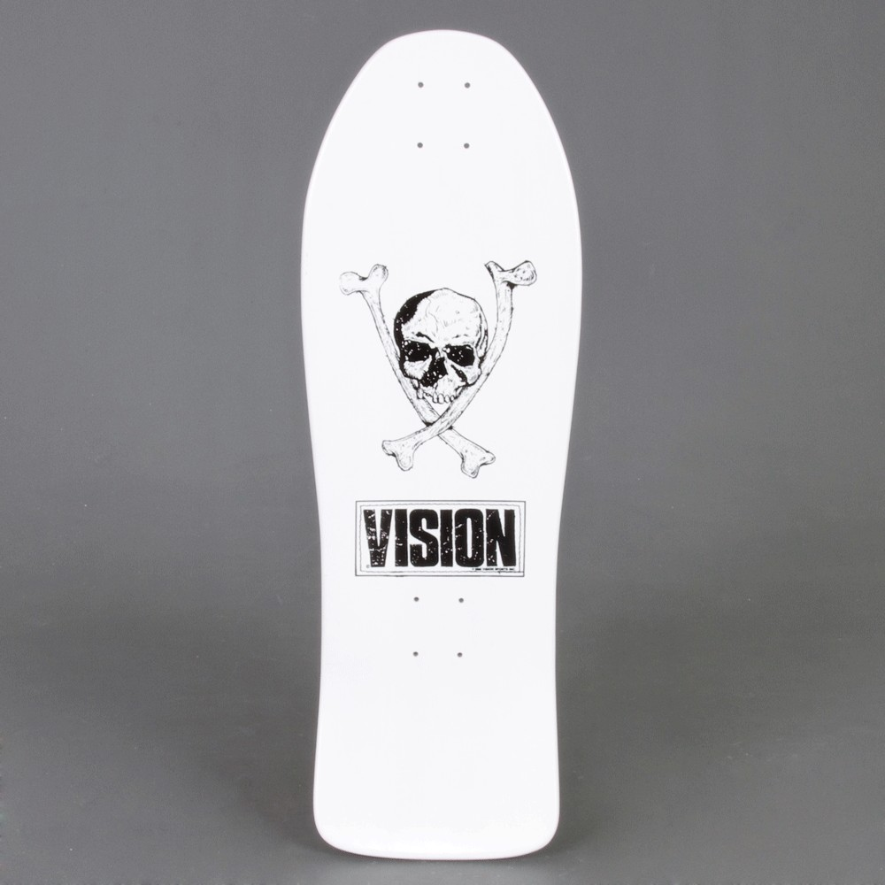 "Vision white 10"" Old school skateboard"