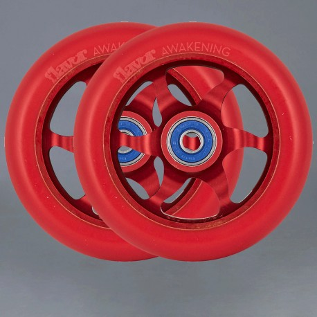 Flavor Awakening Red 110mm 2-pack Kickbike wheels
