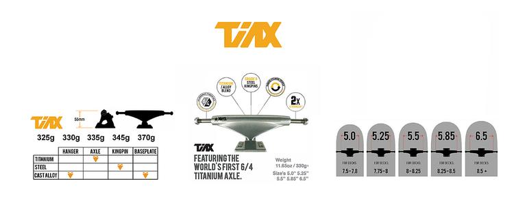Theeve TiAX V3 Red/Raw 5.5 Skateboardtruckar