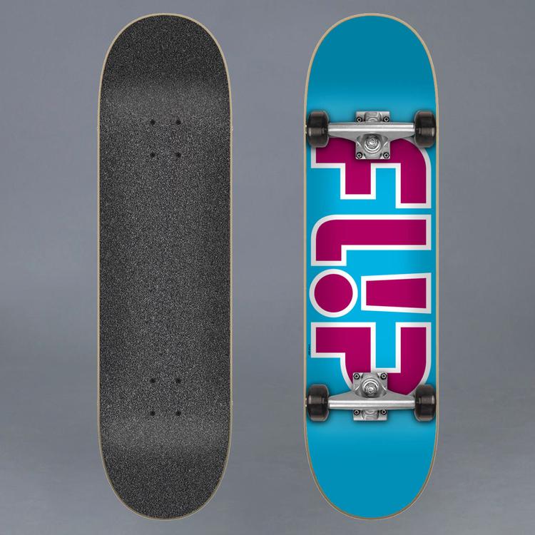 Flip Team Light Blue 7.25 Komplett Skateboard