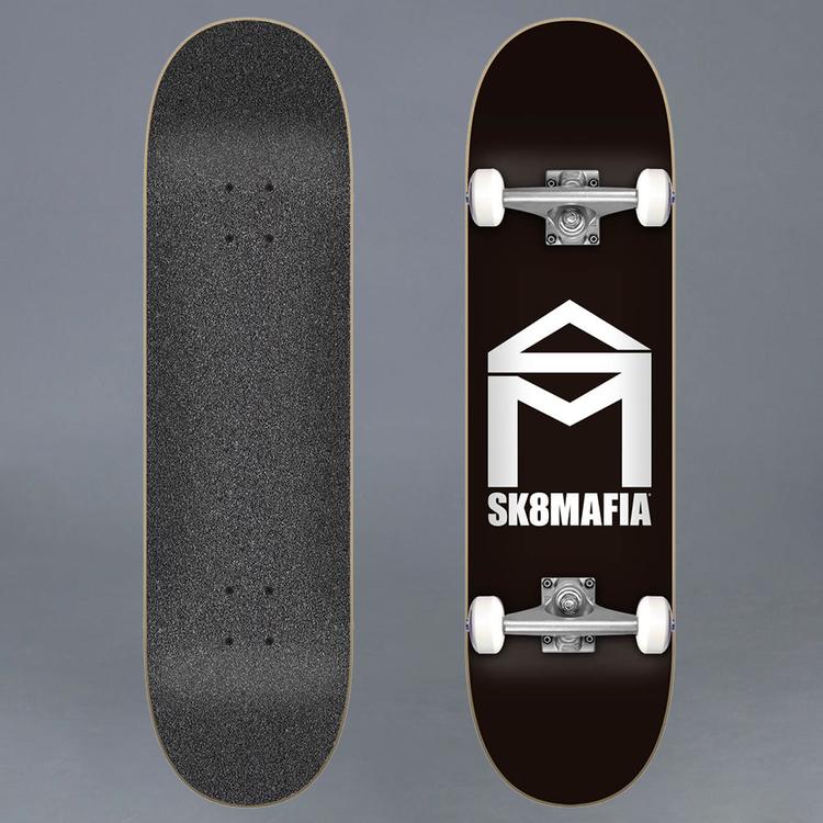 """Sk8Mafia House Logo Back Komplett Skateboard 7.75"""""""