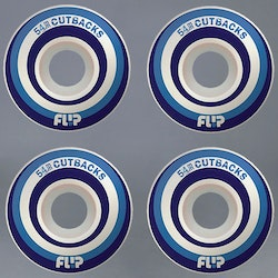 Flip Cutbacks Blue 54mm Skateboard Hjul