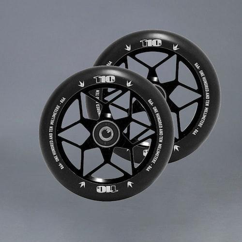 Blunt Diamond 110mm 2-pack Black Kickbike hjul