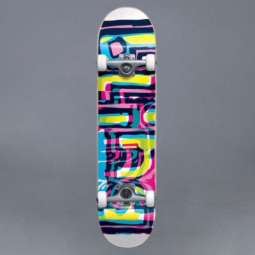 """Blind Logo Glitch FP White Komplett Skateboard 7.25"""""""