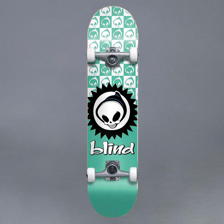 """Blind Checkered Reaper FP Tea 7.375"""" Komplett Skateboard"""