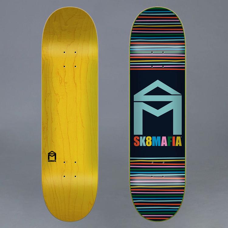 """Sk8mafia House Logo Yarn Skateboard Deck 7.75"""""""