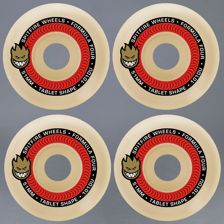 Spitfire Formula Four Tablets Red 52mm 101A Skateboard Hjul