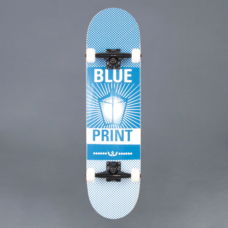"Blueprint Pachinko Blue/White Komplett Skateboard 8"""