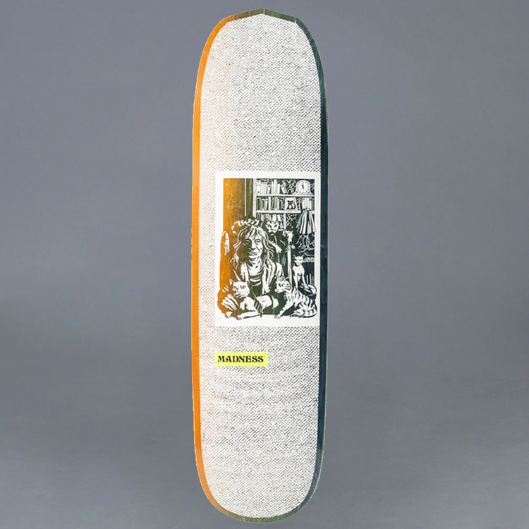 "Madness Desiree Orange / Green Skateboard Deck 8.375"""