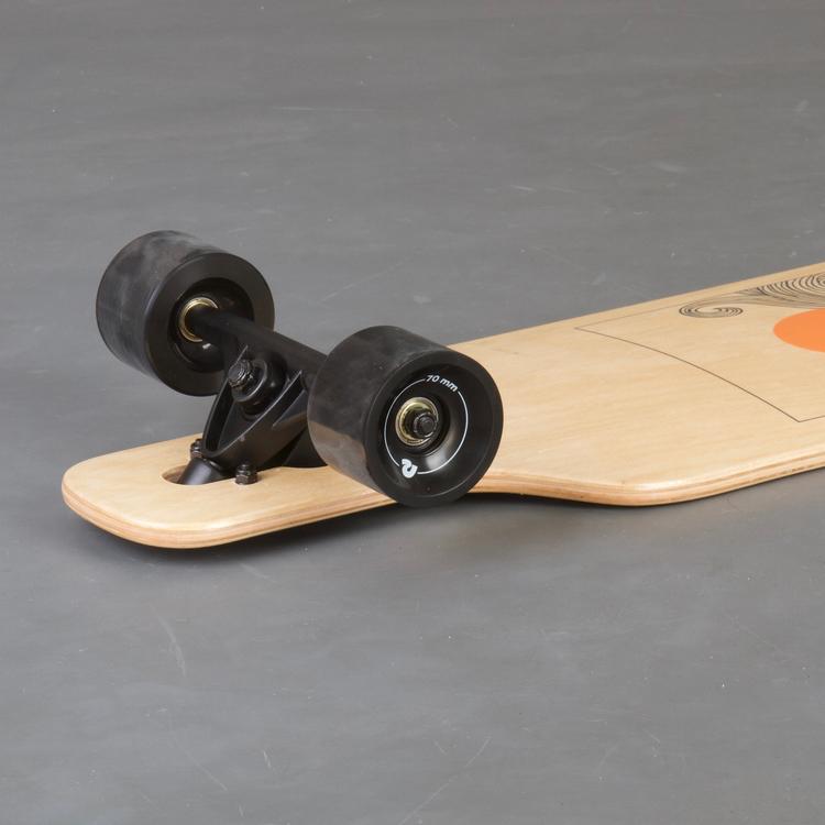 Retro S Drop-Through Tangerine Wave Longboard Komplett