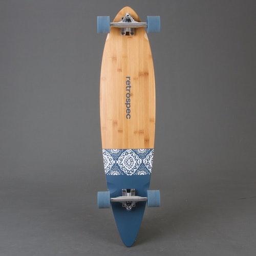 Retro S Pintail Navy Paisley Longboard Komplett