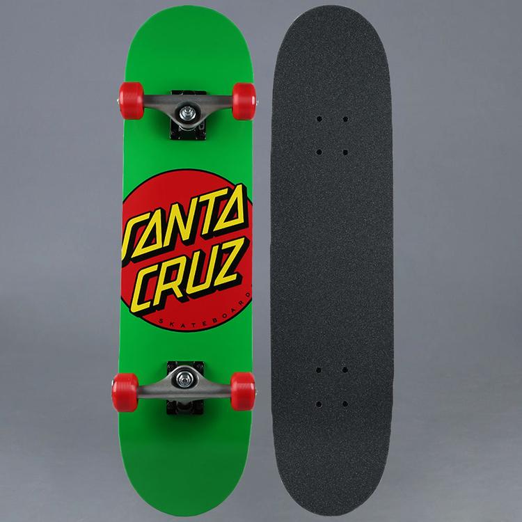 "Santa Cruz Classic Dot Green Komplett Skateboard 7.875"""