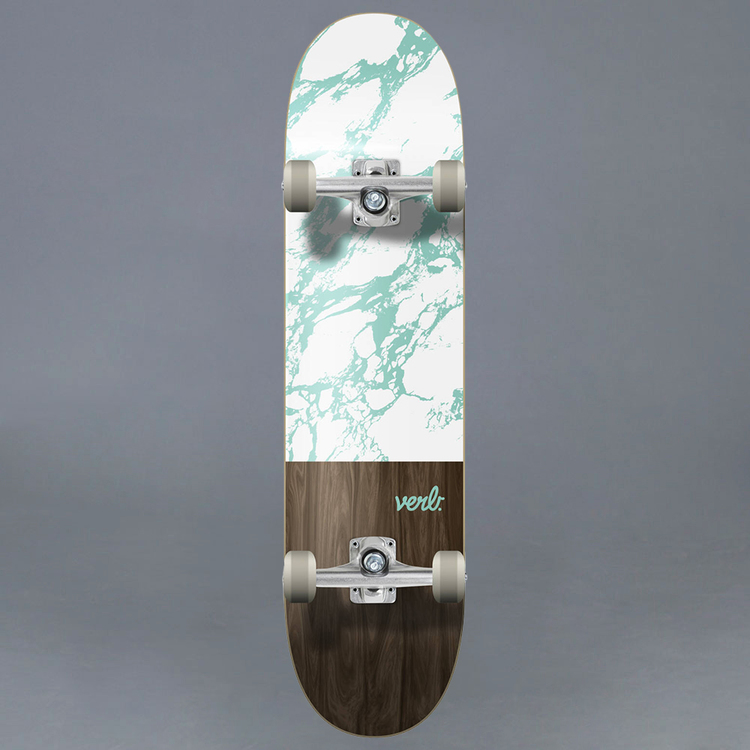 "Verb Marble Dip Vit Komplett Skateboard 8"""