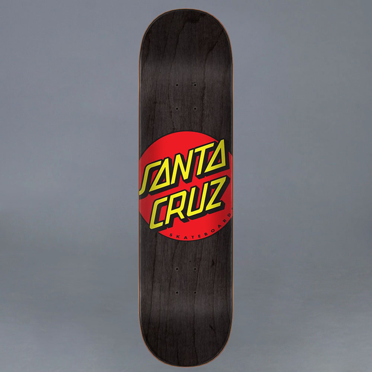"Santa Cruz Classic Dot Skateboard Deck 8.25"""
