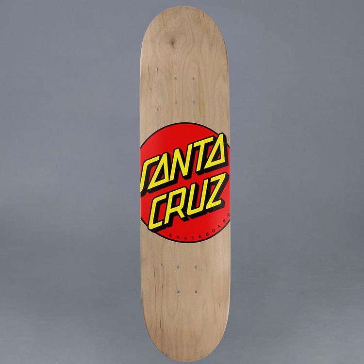 "Santa Cruz Classic Dot Skateboard Deck 8.375"""