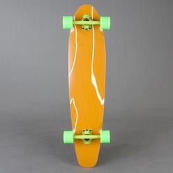 """NoBrand Kicktail Green 38"""" STD Komplett Longboard"""