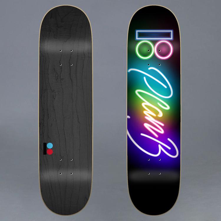 "Plan B Team Neon Skateboard Deck 8.375"""