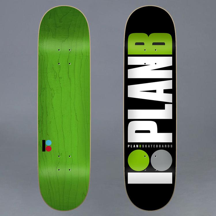 "Plan B Team Green Skateboard Deck 8"""