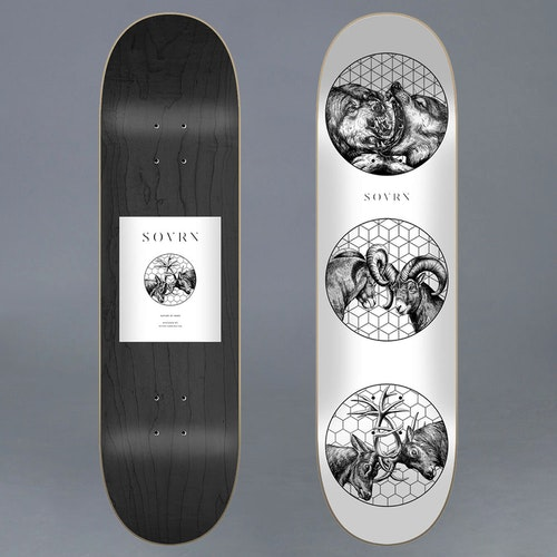 """Sovrn Nature Of Wars Skateboard Deck 8"""""""