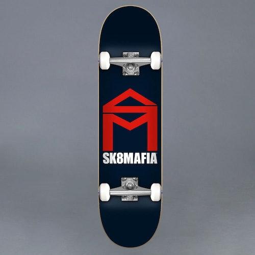 Sk8Mafia House Logo Navy 7.8 Komplett Skateboard