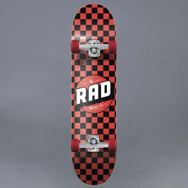 Rad Checkers Red 7.75 Komplett Skateboard