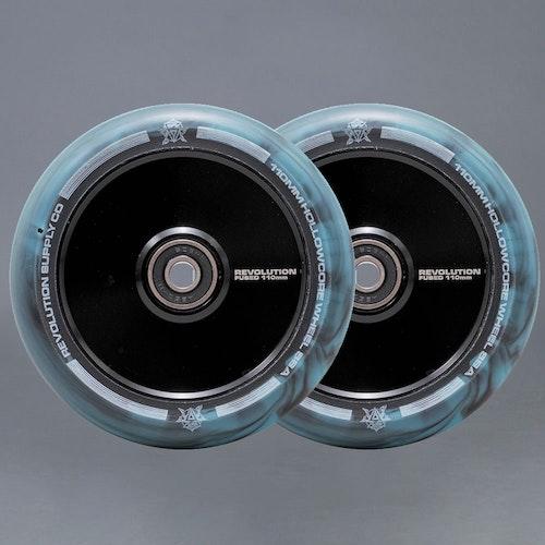 Revolution Hollowcore 110mm Blue / Black Sparkcykel Hjul 2-pack
