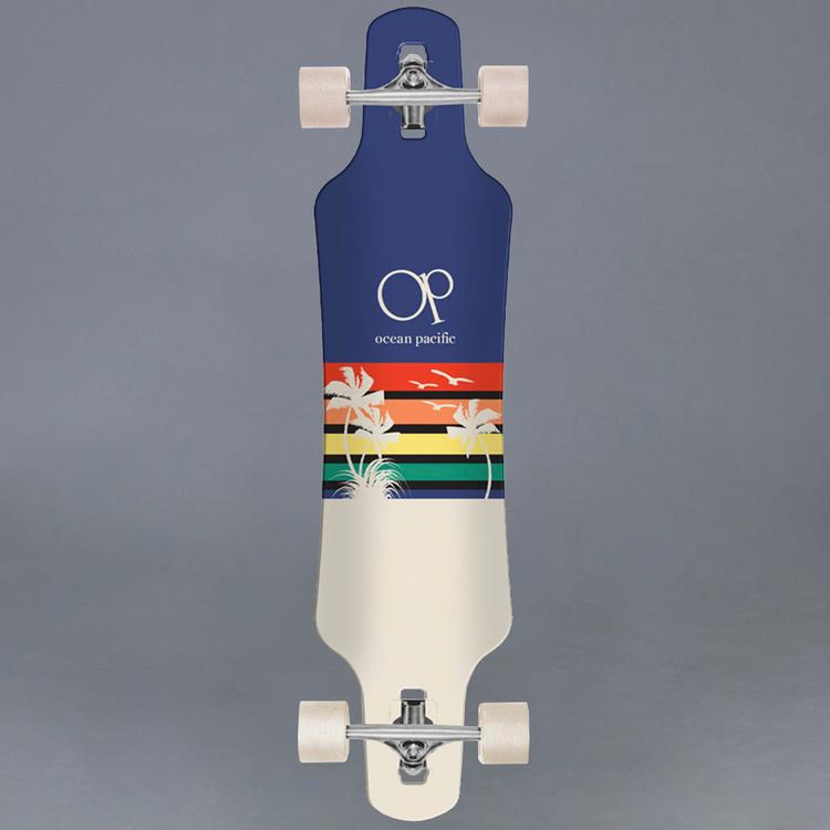 "Ocean Pacific Sunset Navy 39"" Komplett Longboard"