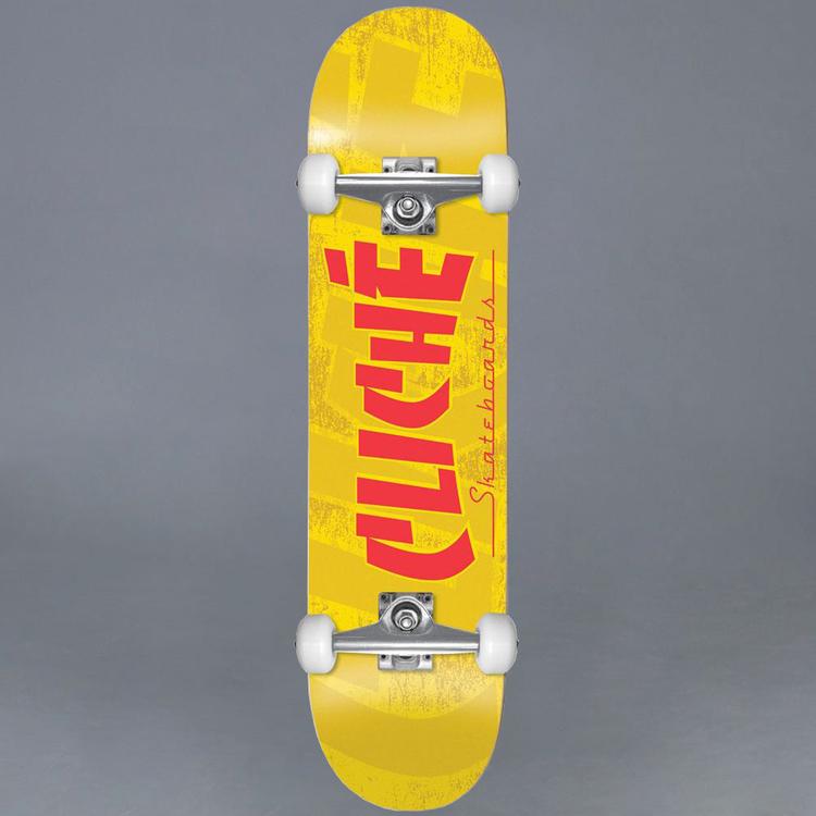 Cliche Banco Yellow 7.5 Komplett Skateboard