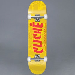 "Cliché Banco Yellow Komplett Skateboard 7.5"""