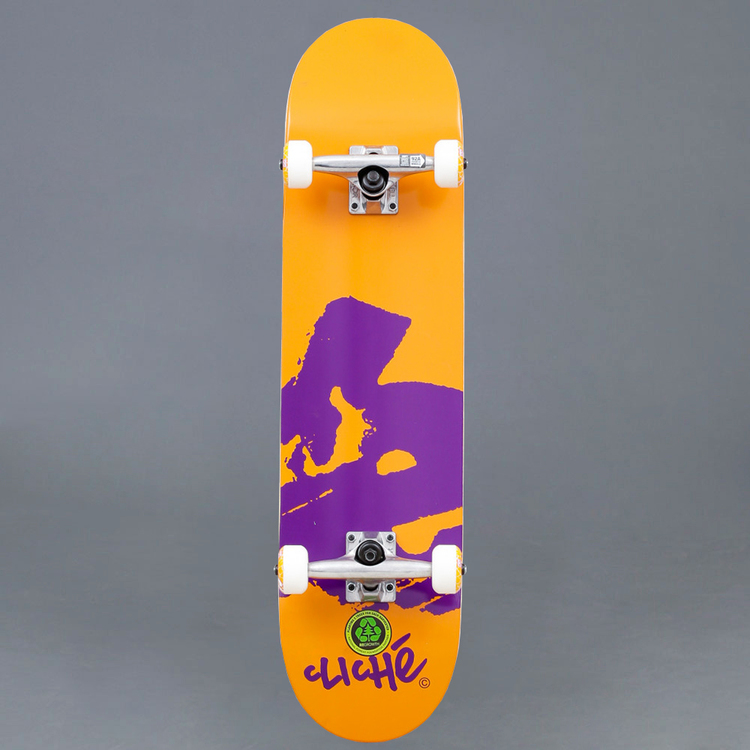 "Cliché Europe Orange Komplett Skateboard 7.875"""