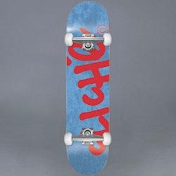 "Cliche Handwritten Blue/Red Komplett Skateboard 7.375"""