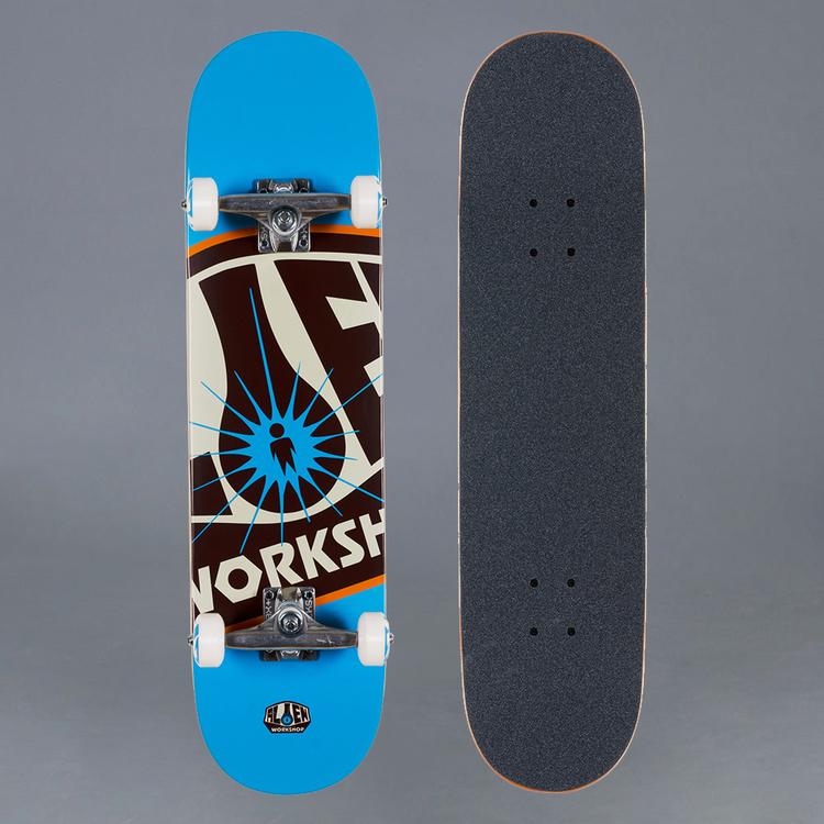 """Alien Workshop OG Logo Blue Komplett Skateboard 8"""""""