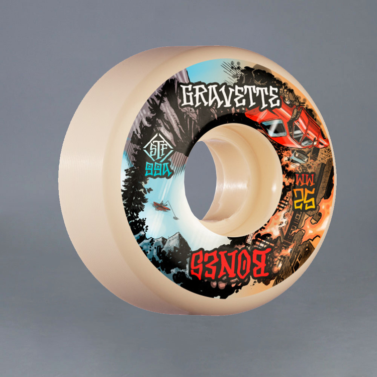 Bones STF Gravette Heaven & Hell V2 52mm 99A Skateboard Hjul