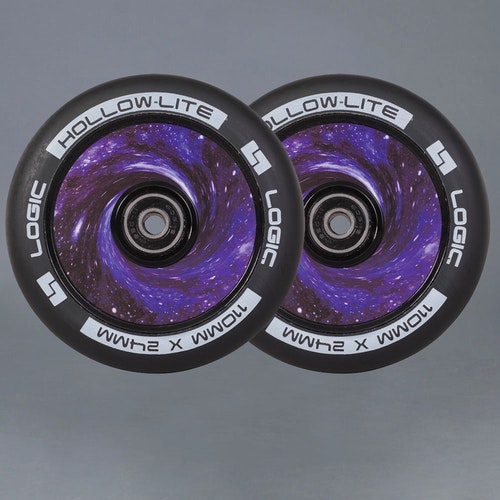 Logic Hollow Lite 110mm Vortex Blue 2-pack Kickbike Hjul