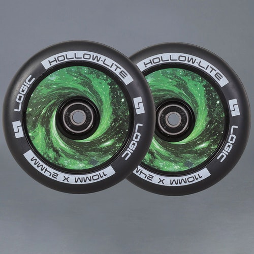 Logic Hollow Lite Vortex Green 110mm 2-pack Sparkcykel Hjul