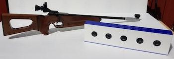 Hyra av laservapen och elektronisk måltavla