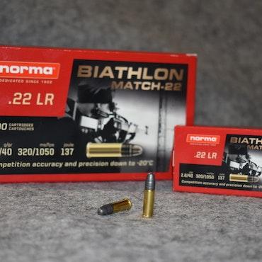 NORMA BIATHLON MATCH .22lr 50st (3,40kr/st)