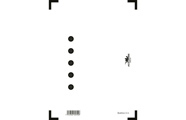 Tavla skidskytte 5-prick för Accurize Shooting System 5 m