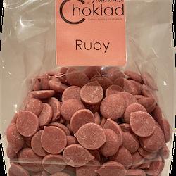 Chokladdroppar Ruby 1 (Rosa choklad)