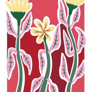 """The meadow III""   Pink"