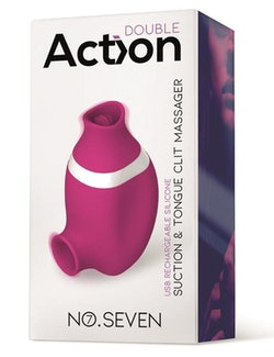 ACTION NO. SEVEN 2 IN 1 lufttrycksvibrator AND TONGUE MASSAGER USB SILICONE