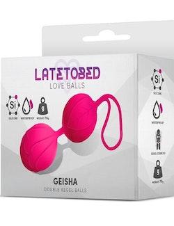 LATETOBED GEISHA DOUBLE KEGEL BALLS ROSE RED 70g