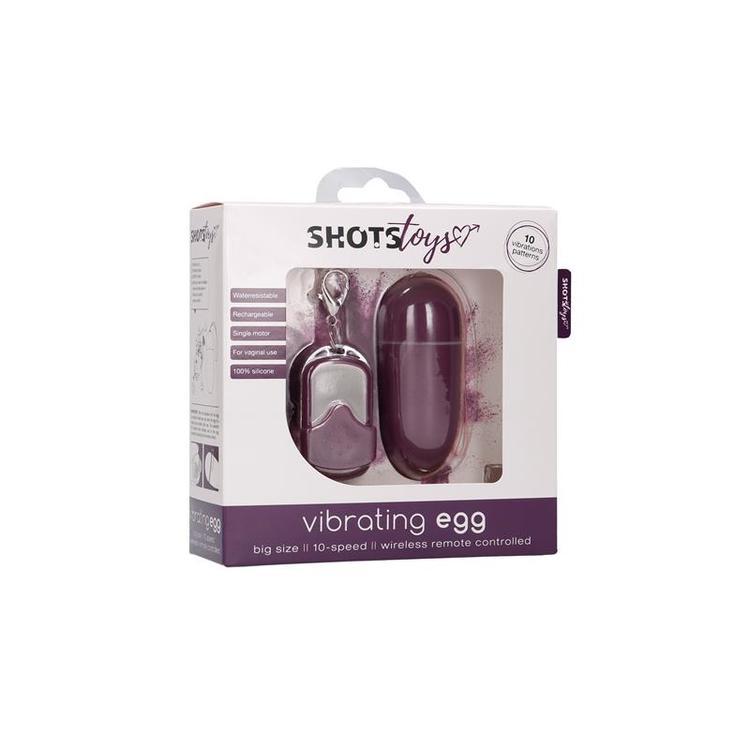 SHOTS TOYS VIBRATING EGG 10 SPEED PURPLE vibrator