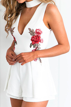 Carrie Playsuit - White