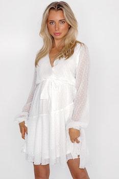 Vit klänning - Mya