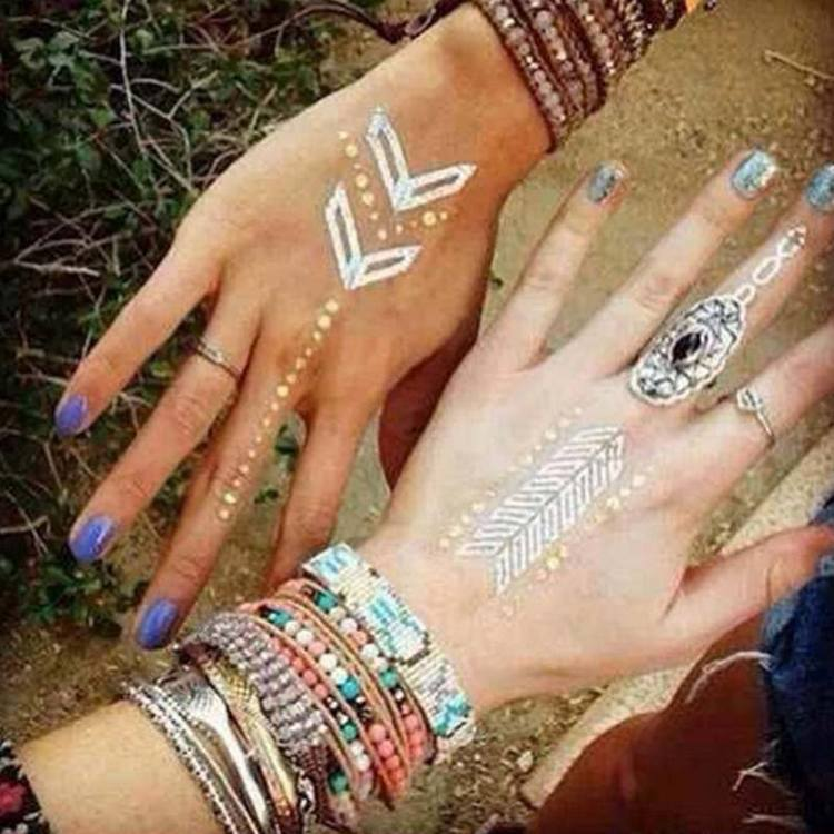 Metallic Jewelry Tattoos - Arrows