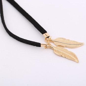 Feather Choker - Gold