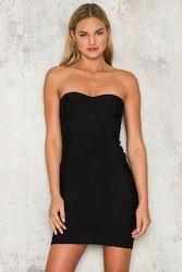 Svart bandage klänning - Kim
