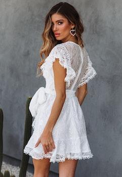 Vit klänning - Ebba